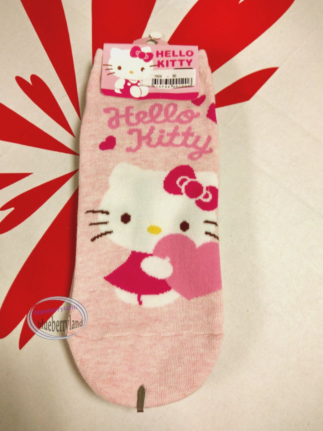 Sanrio Hello Kitty Pink Sock ladies girls Low Cut Ankle Socks 22-24cm