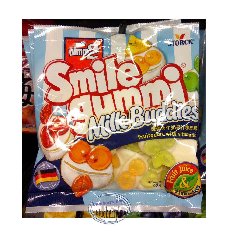 Storck nimm2 Smile gummi Milk buddies Fruitgums with vitamins 90g candies kids sweets snacks
