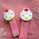 Set of 2 Japan Chicken Felt Bento Lunch box Strap Belt bento