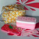 Japan Strawberry Bento Lunchbox cutlery 4P set Lunch Box Food case ladies girls