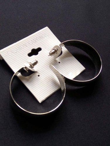Fashion Silvertone Round drop earrings Jewelry Jewellery women ladies girl