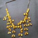 Fashion Dangling Yellow Beads Necklace ladies women girls C