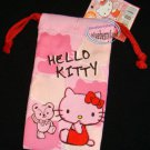 Sanrio HELLO KITTY Pink Drawstring Bag Mobile Cell Phone BAGS MP3 DC case