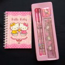 Sanrio Hello Kitty Pencils Rubber Ruler Notebook stationery set
