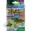 Japan Kokubo Breathe through Large Strips Mint 6 Pcs nose health care ladies man