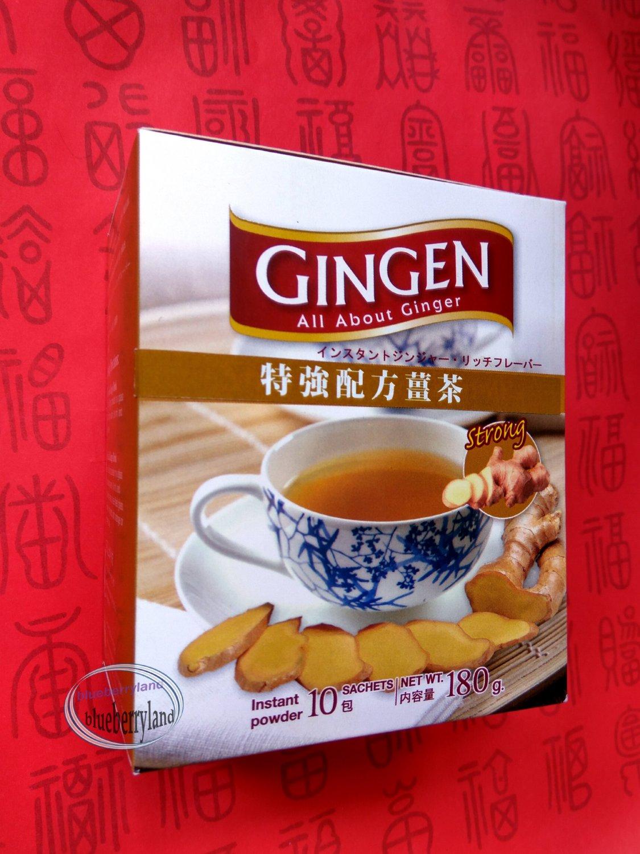 GINGEN Natural Products STRONG Ginger Tea Instant Drink mix Beverages