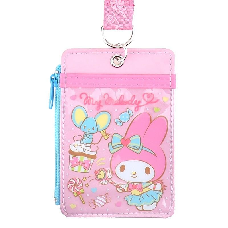 Sanrio My Melody Lanyard Tag School Work Pass ID tags Holder Q17