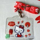 Sanrio HELLO KITTY Lanyard School Work Pass ID tag Red