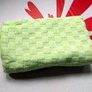 Bamboo Checker Towel 34cm x 76cm green towels bathroom shower