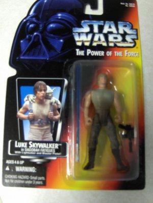 Star Wars red card Luke Dagobah long saber