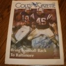 SISTO AVERNO & RICK VOLK SIGNED COLTS GAZETTE