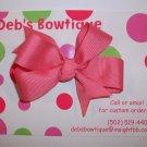 Coral Rose Medium Boutique Bow