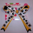 Black/Gold/White Cheer Bow
