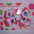 Cupcake Large Boutique Bow