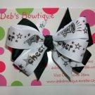 Black & White Cheer Boutique Bow