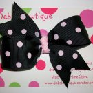 Black w/Dots Medium Boutique Bow