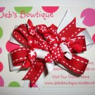 Red & White w/Korkers Large Boutique Bow