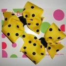 Yellow w/Black Dots Pigtail Set