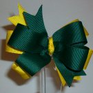 Green & Yellow Large Boutique Bow
