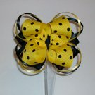 Yellow & Black Loopy Boutique Bow