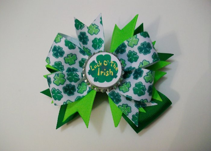 Luck of the Irish Bottle Cap Bow