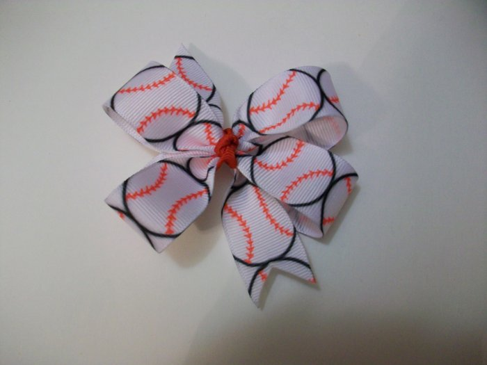 Baseball Medium Boutique Bow