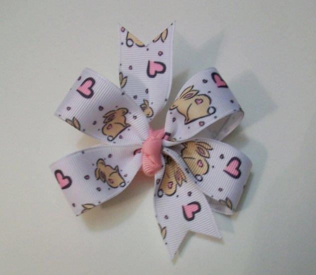Bunny Print Medium Boutique Bow