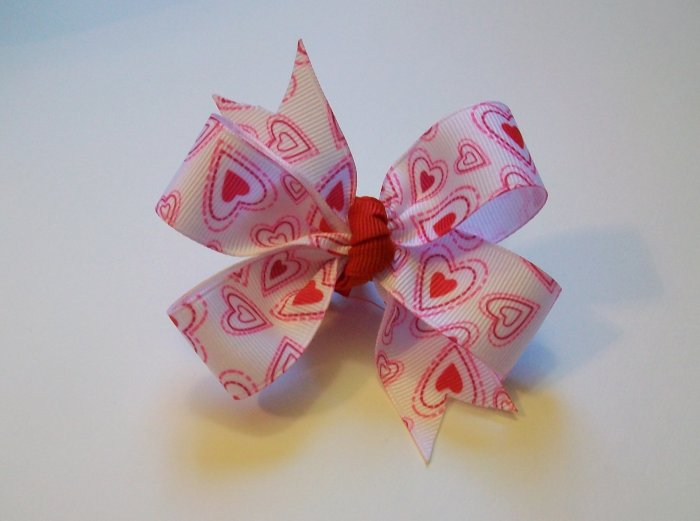Heart Paisley Medium Boutique Bow