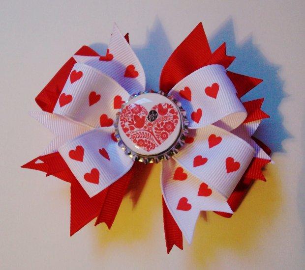 Valentine's Day Bottle Cap Bow