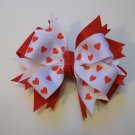 Red Hearts Large Boutique Bow