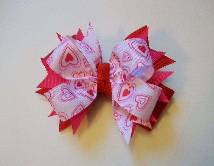 Heart Paisley Large Boutique Bow