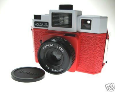 Sales - HOLGA 120 GCFN - White + Red Colour ** FREE Shipping
