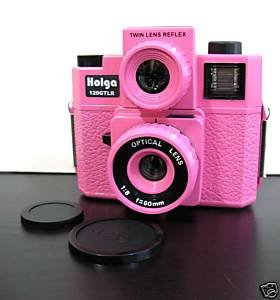 Sales - HOLGA 120GTLR Twin-Lens Reflex Camera - Pink Colour ** Free Shipping