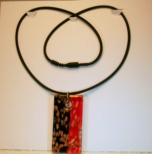 Red & Black Glass Pendant Necklace/Bracelet. Check Our Store twodotts.ecrater.com