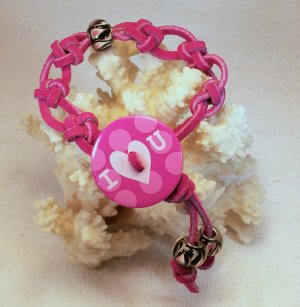 Fushia Suede Leather Bracelet.  Check Our Store twodotts.ecrater.com