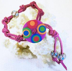 Purple Suede Leather Bracelet .  Check Our Store twodotts.ecrater.com