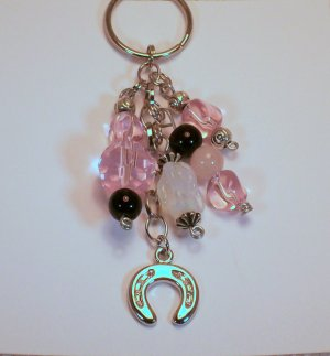 Casino Card  LUCKY CHARM, (pink).  Check Our Store twodotts.ecrater.com