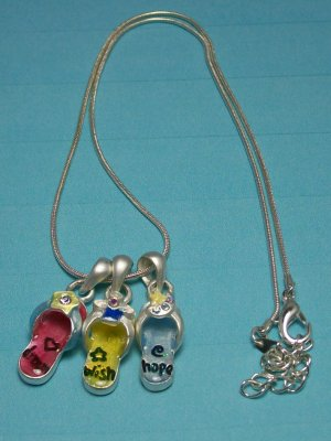 Flip Flop Necklace.  Visit Our Store twodotts.ecrater.com