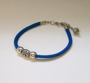 Blue Paracord Ankle Bracelet.