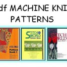 Brother Stitchworld 1, 2 & 3 Knitting Machine Pattern Books cd