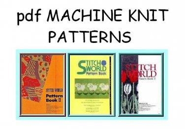Brother Stitchworld 1, 2 & 3 Knitting Machine Pattern Books cd