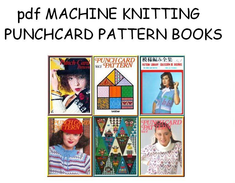 CD Library of Machine Knitting Punchcard Pattern Books