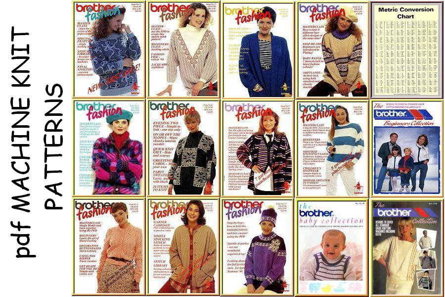 14 Brother Machine Knitting Fashion Pattern Books