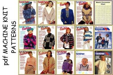 14 Brother Machine Knitting Fashion Pattern Books