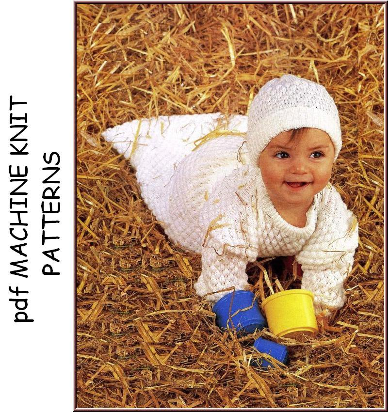 Free Knitting Patterns For Hooded Scarves : Machine Knitting patterns for Babies & Children