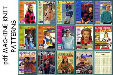 Brother Fashion Machine Knitting Pattern Books issues 1-14