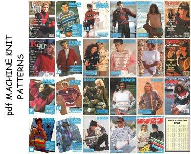23 BOND knitting machine pattern books on CD