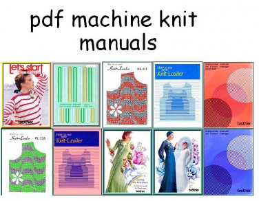Knitleader & Colour Changer Manuals & Punchcard Charts on CD