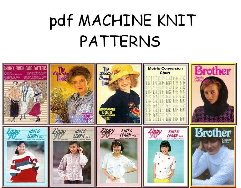 Bulky Knitting Machine Punchcard Amp Electronic Pattern