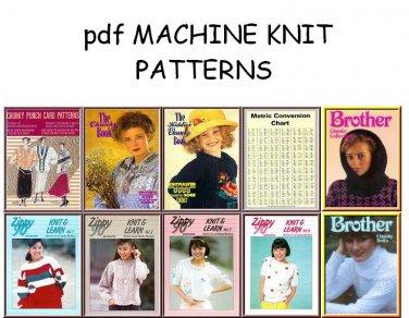 Bulky Knitting Machine Punchcard & Electronic Pattern Books on CD